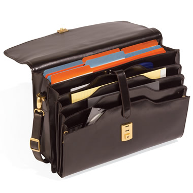 The Barrister's Leather Attaché.