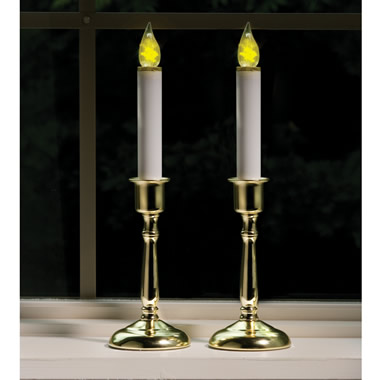 The Cordless Night Sensing Window Candles.