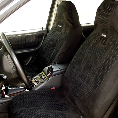 The Carbon Fiber Heated Car Seat Covers.