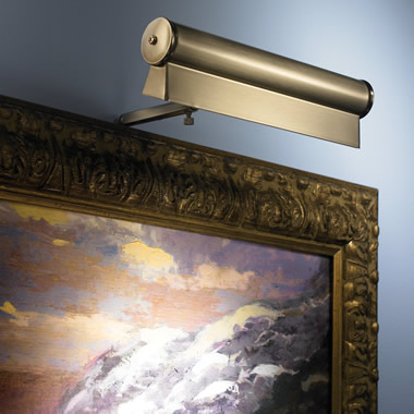 The Cordless 8-Inch LED Gallery Lamp.