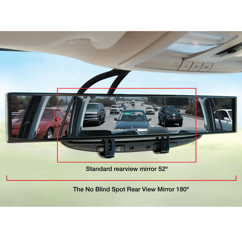 No Blind Spot Rear View Mirror Hammacher Schlemmer