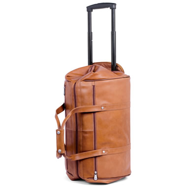 The Rolling Widemouth Leather Weekend Bag