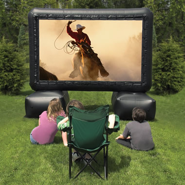 The 12 Foot Inflatable Screen Outdoor Home Theater System.