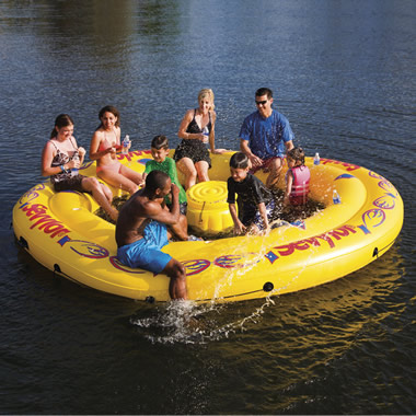 The 8 Person Inflatable Water Island.