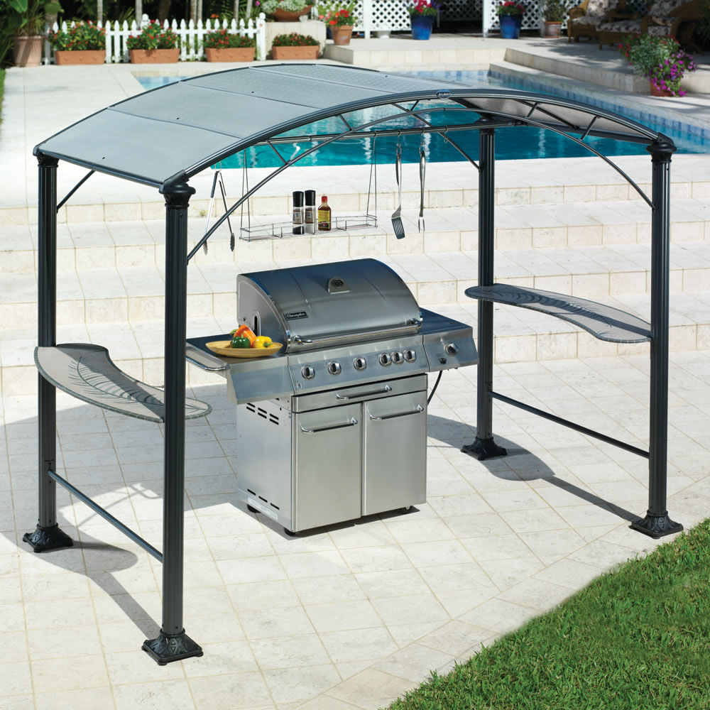 & The Barbecue Gazebo - Hammacher Schlemmer