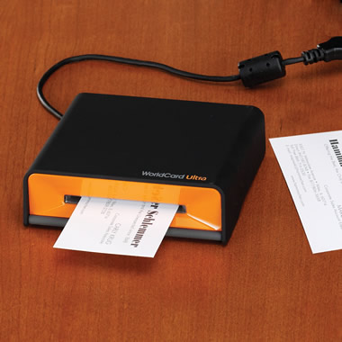The 3 Second Business Card Scanner.