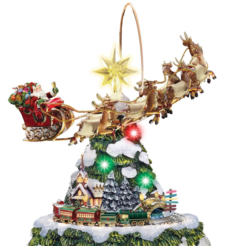 the thomas kinkade animated christmas tree - Animated Christmas Tree