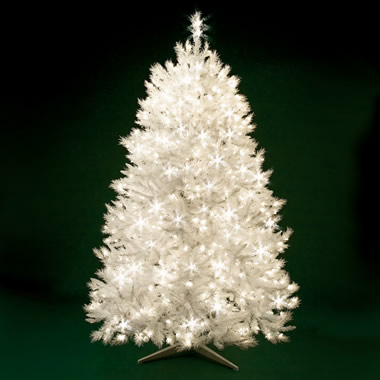 The 7 1/2 Foot Classic White Christmas Tree.