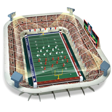 The Classic Electric Football Game With Lighted Stadium.