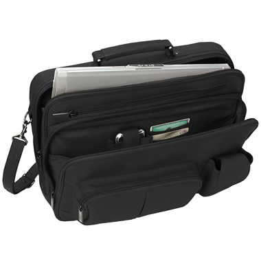 The Organized Traveler's Leather Laptop Bag