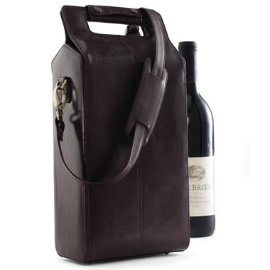 The Bison Leather Wine Tote.