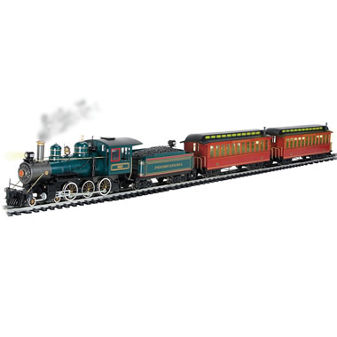 The Authentic Pennsylvania Railroad Steam Locomotive Set.