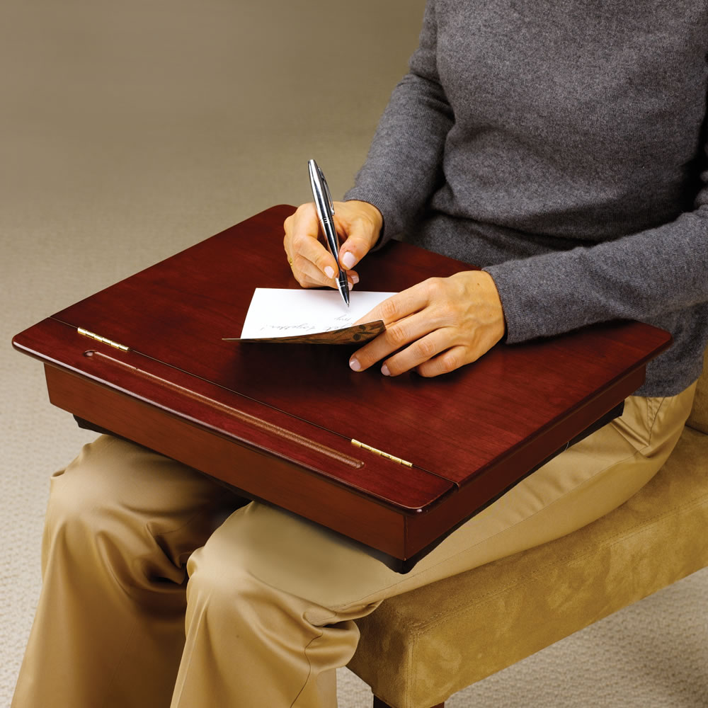 The Wooden Storage Lap Desk