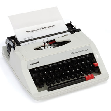 The Classic Olivetti Manual Typewriter.