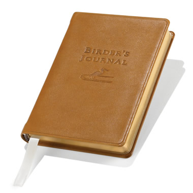 The Birdwatcher's Life List Leather Journal.