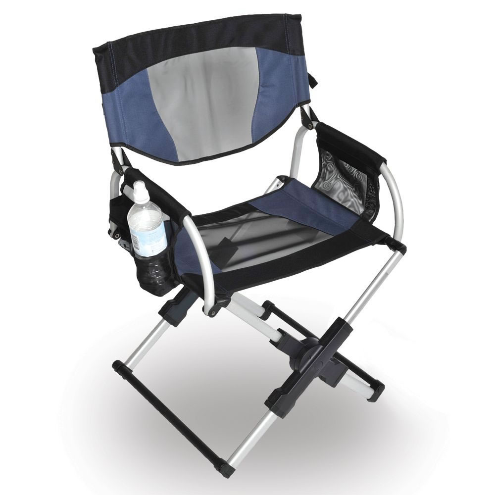The Messenger Bag Directors Chair Hammacher Schlemmer