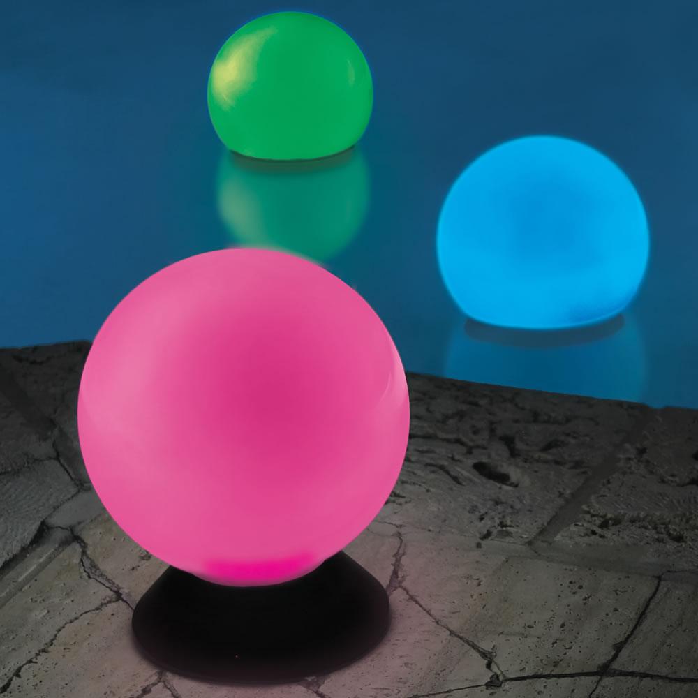 The Place Anywhere Solar Orb Light Hammacher Schlemmer