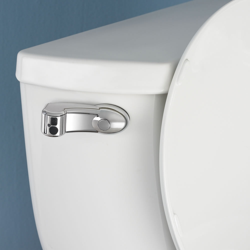 The Touchless Toilet Flusher Hammacher Schlemmer
