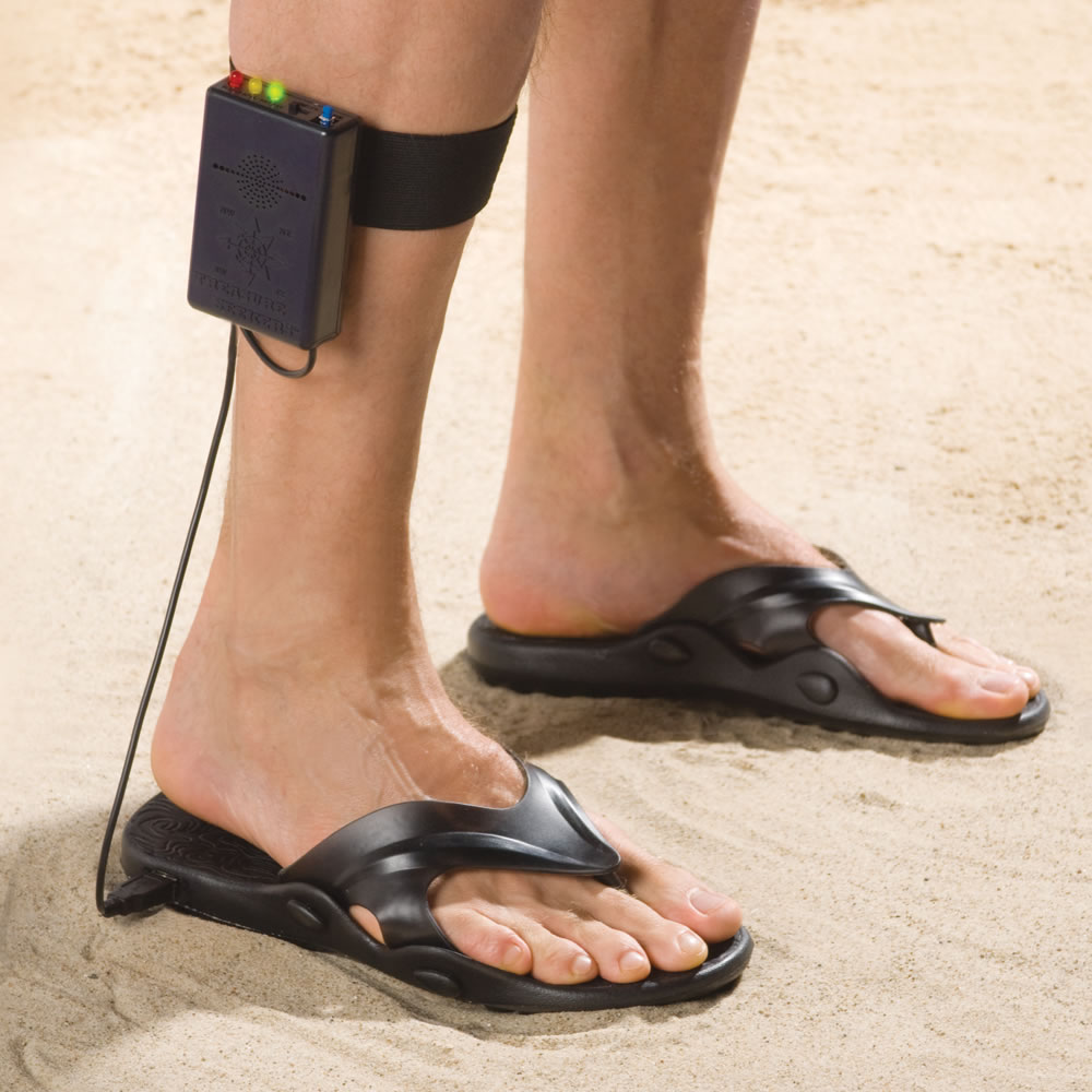 The Metal Detecting Sandals Hammacher Schlemmer