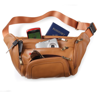 The Organized Traveler's Leather Hip Pouch