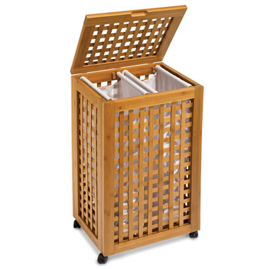The Bamboo Double Bin Hamper.