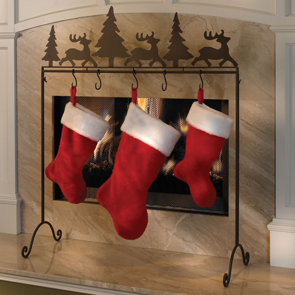 The Portable Stocking Holder Hammacher Schlemmer
