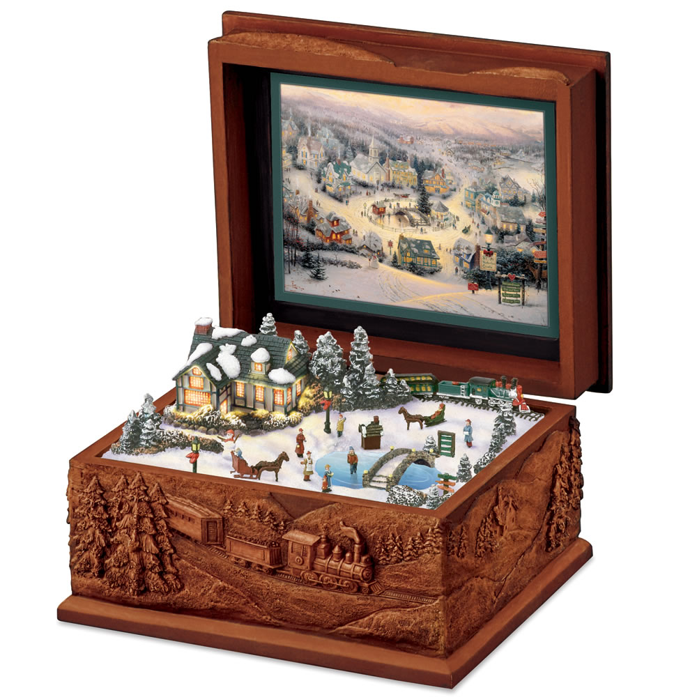 The Thomas Kinkade St Nicholas Circle Music Box