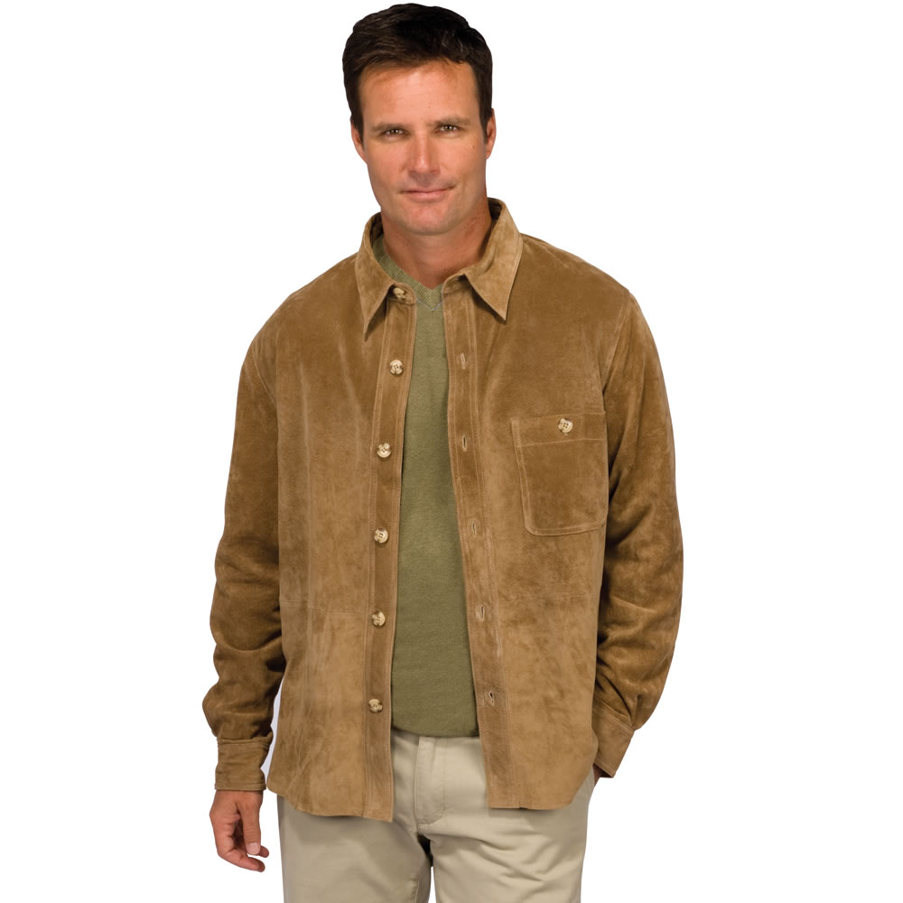 The Gentleman's Washable Suede Shirt - Hammacher Schlemmer