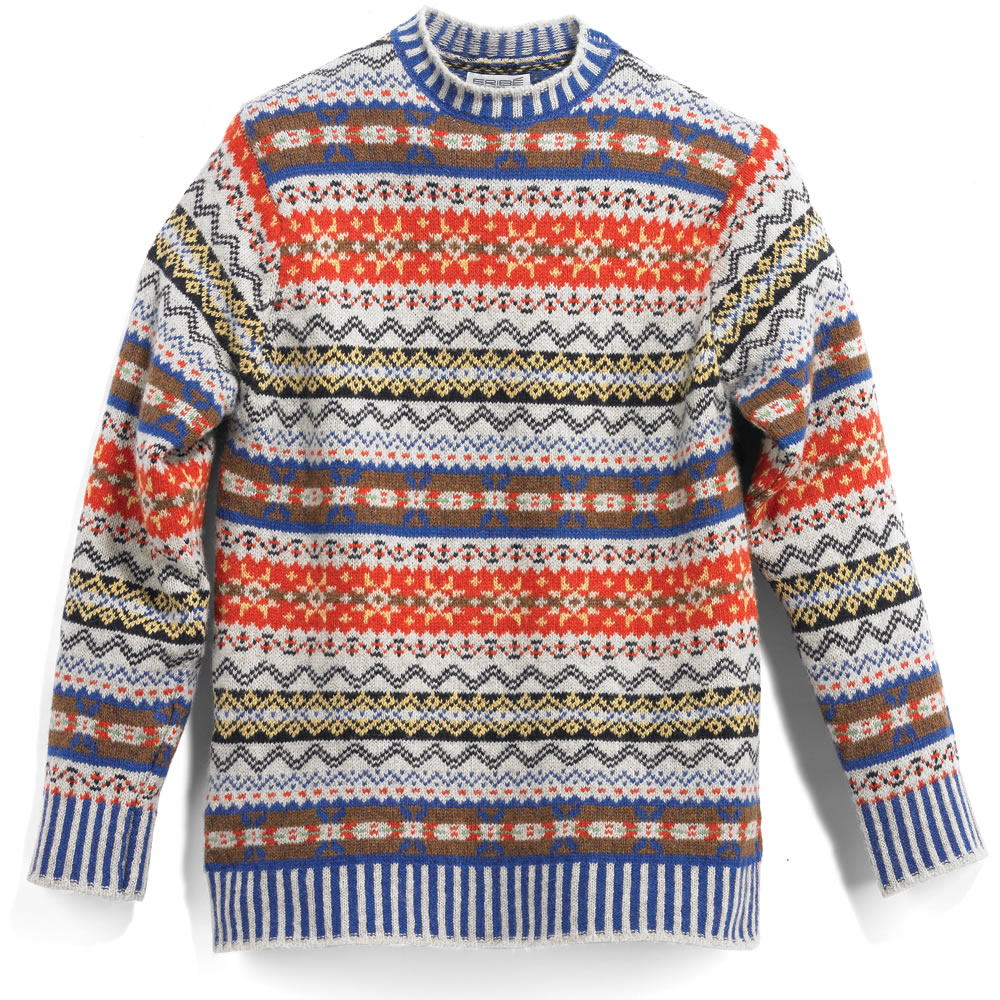The Genuine Scottish Fair Isle Sweater - Hammacher Schlemmer