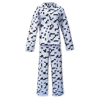 The Crossword Puzzle Pajamas.