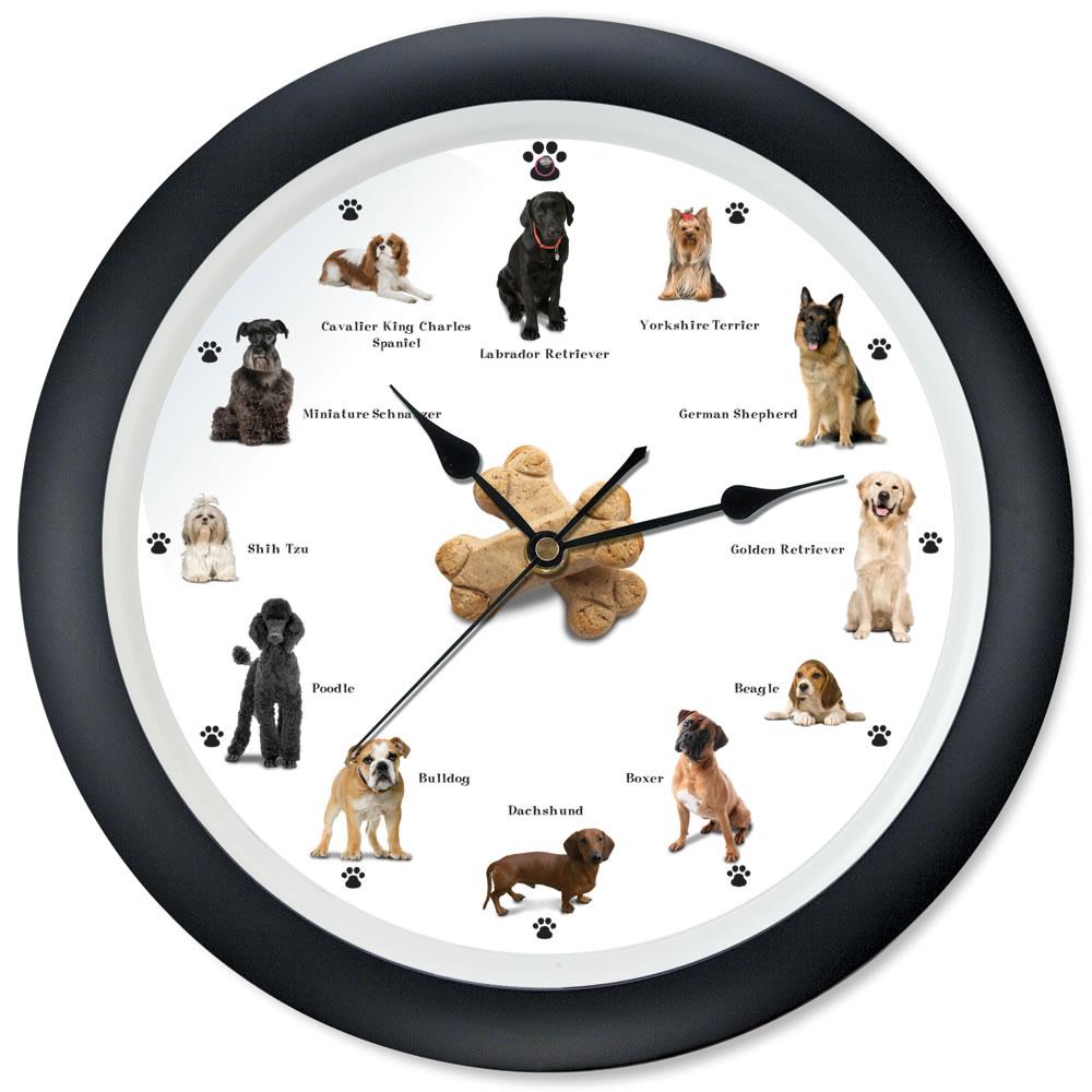 The Cat And Dog Clocks Hammacher Schlemmer