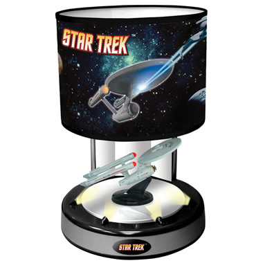 The Animated Musical Starship Enterprise Lamp.