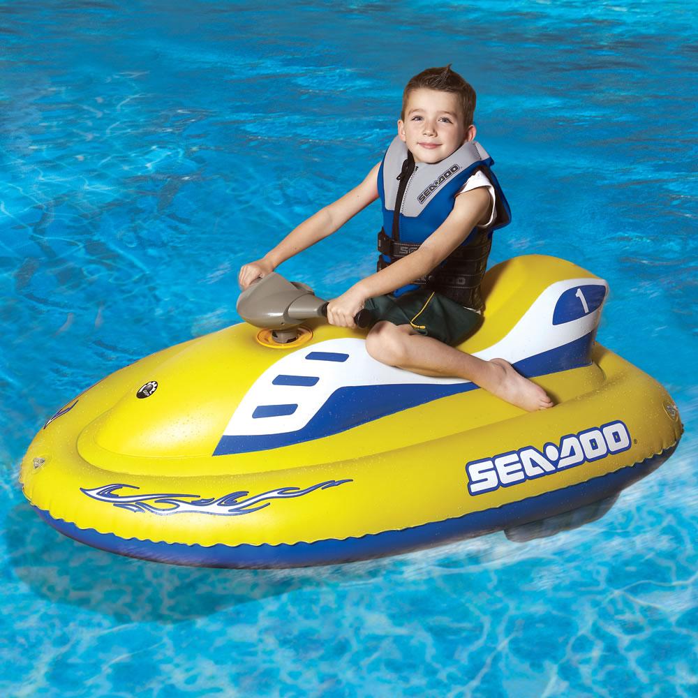 The Children S Inflatable Sea Doo Hammacher Schlemmer