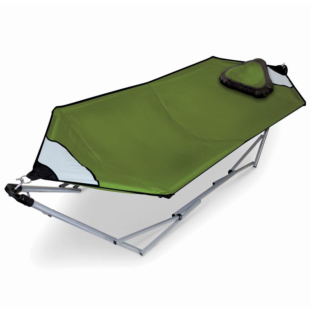 the capacious portable hammock the capacious portable hammock   hammacher schlemmer  rh   hammacher