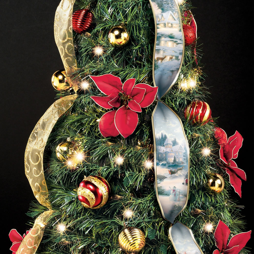 the thomas kinkade pop up 6 foot christmas tree - Pull Up Christmas Tree