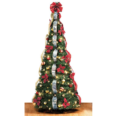 the thomas kinkade pop up 6 foot christmas tree