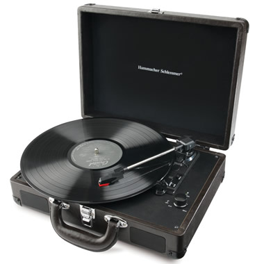 The Battery Operated Briefcase Turntable.