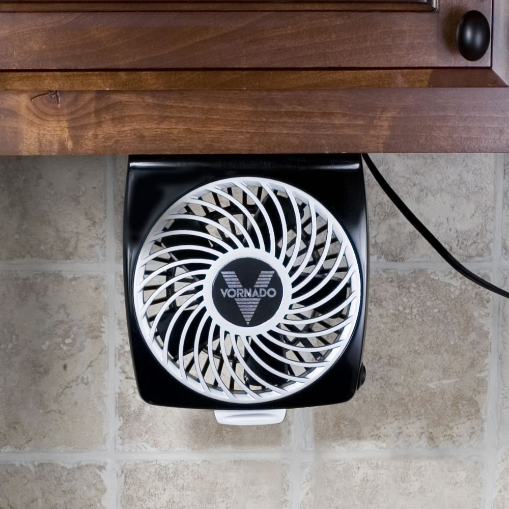 The Foldaway Under Cabinet Fan - Hammacher Schlemmer