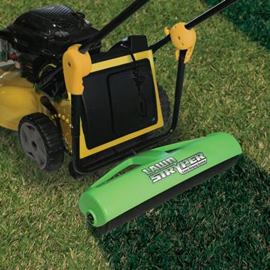 The Groundskeeper S Lawn Roller Hammacher Schlemmer