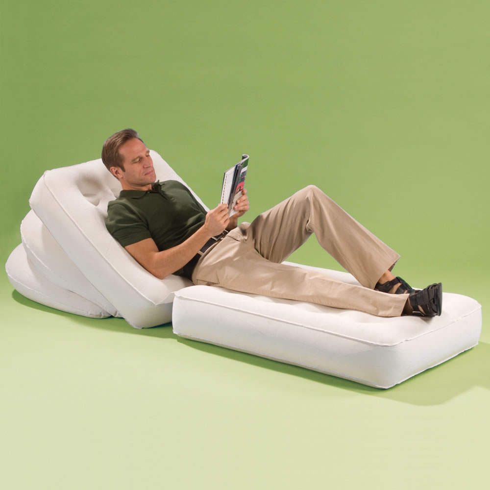 The Convertible Inflatable Lounger & The Convertible Inflatable Lounger - Hammacher Schlemmer islam-shia.org