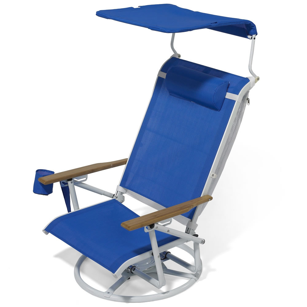 The Suntracking Beach Chair Hammacher Schlemmer