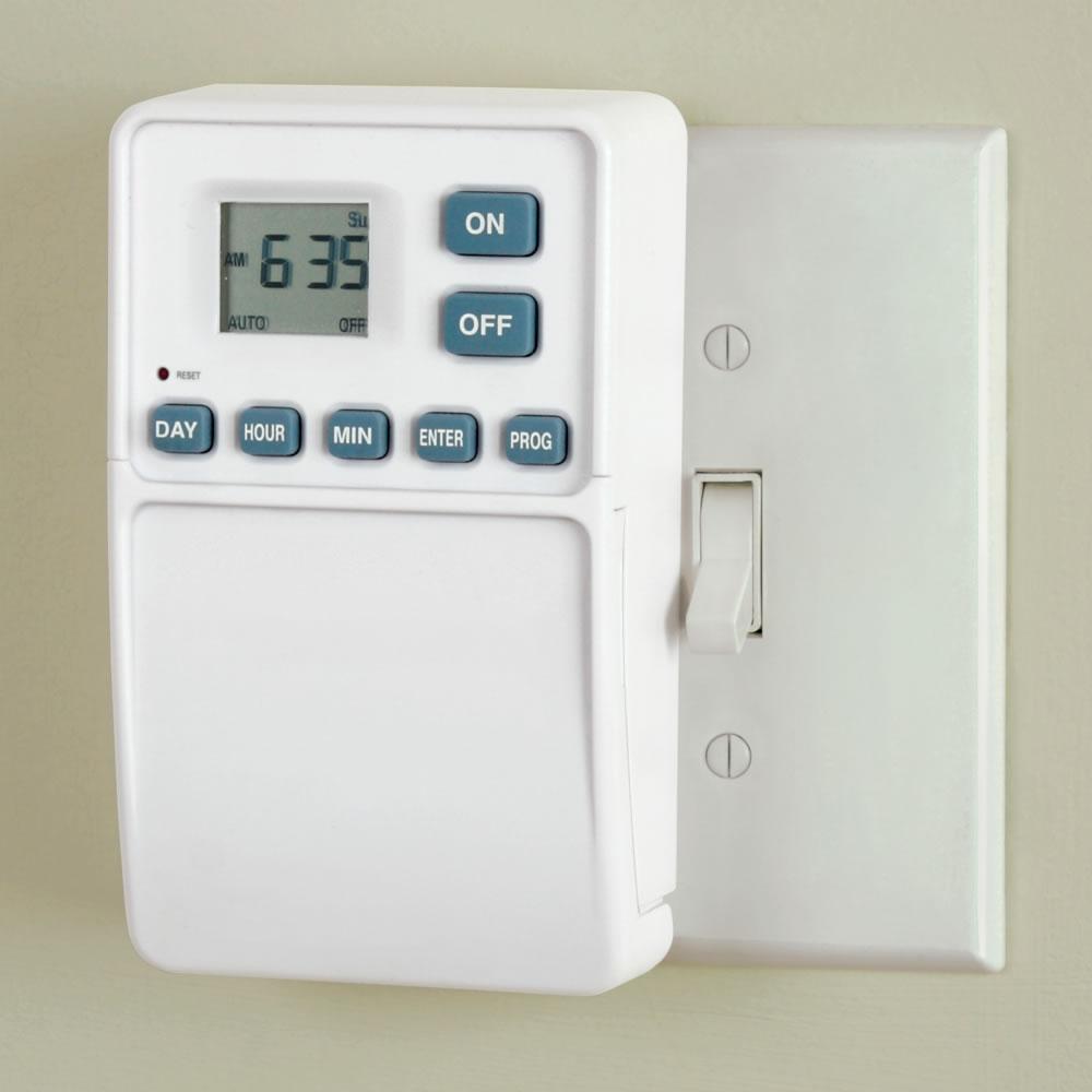 the light switch timer hammacher schlemmer. Black Bedroom Furniture Sets. Home Design Ideas