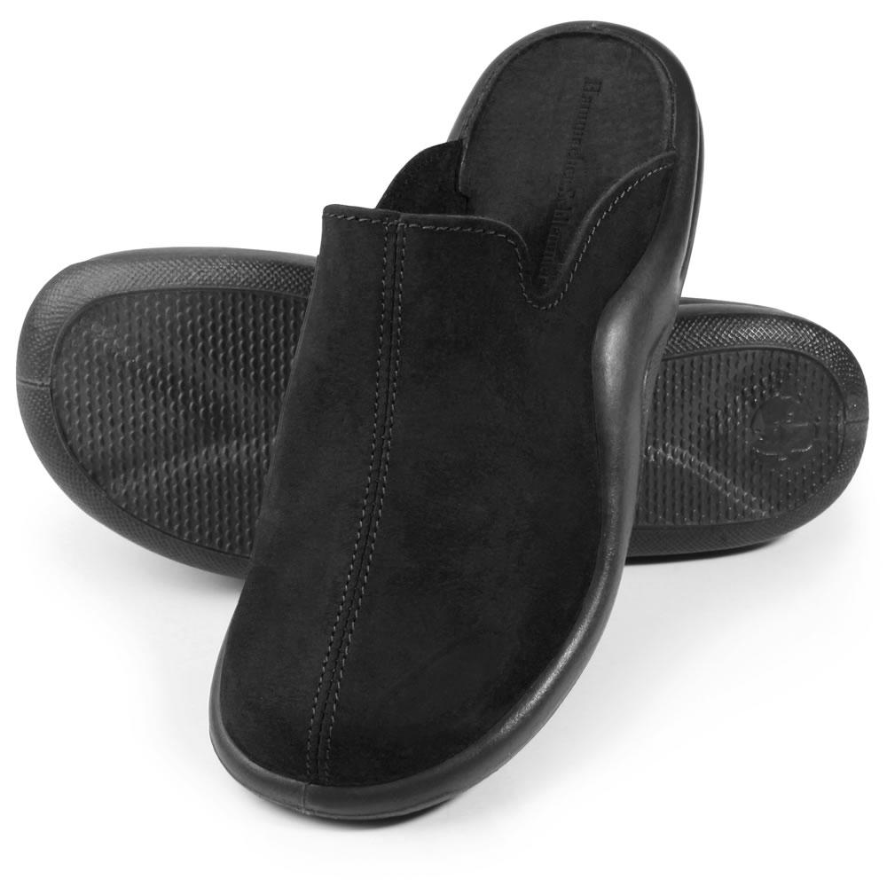 02c6750e4e7 The Gentlemen s Walk On Air Indoor Outdoor Slippers - Shown in black