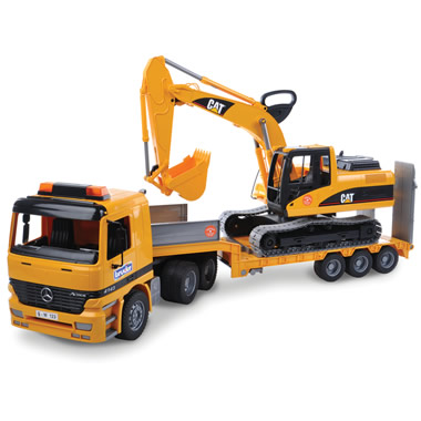 The German Loading Truck and Excavator