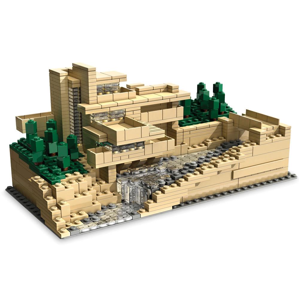 The Frank Lloyd Wright Fallingwater Lego Set Hammacher Schlemmer