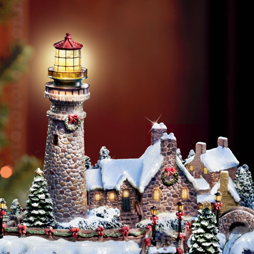 The Thomas Kinkade Christmas Seaside Village