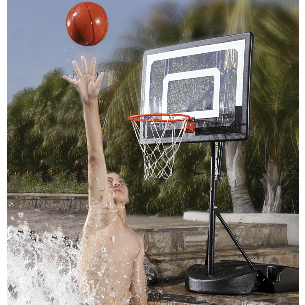 The pool to pavement basketball hoop hammacher schlemmer - Pool basketball ...