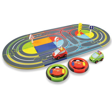 The Child's First Slot Car Set.