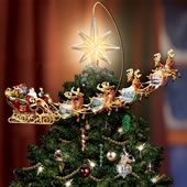 the thomas kinkade revolving christmas tree topper - Motorized Christmas Decorations