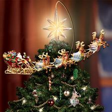 The Thomas Kinkade Revolving Christmas Tree Topper